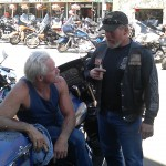 Coach and Scotty in Sturgis