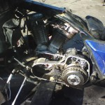 2 Motor coming out